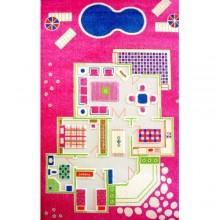 """Ковер """"Игровой домик"""" (100*200 см) розовый"""
